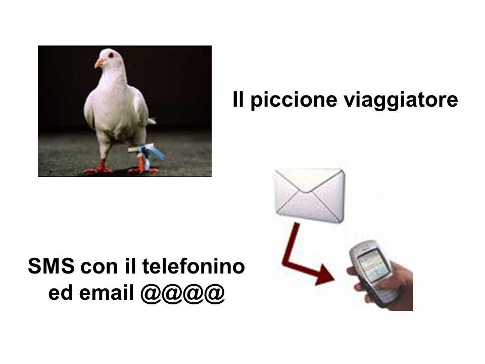 Il piccione viaggiatore SMS con il telefonino ed email @@@@
