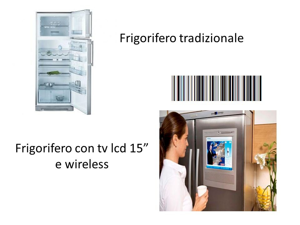 Frigorifero tradizionale Frigorifero con tv lcd 15 e wireless