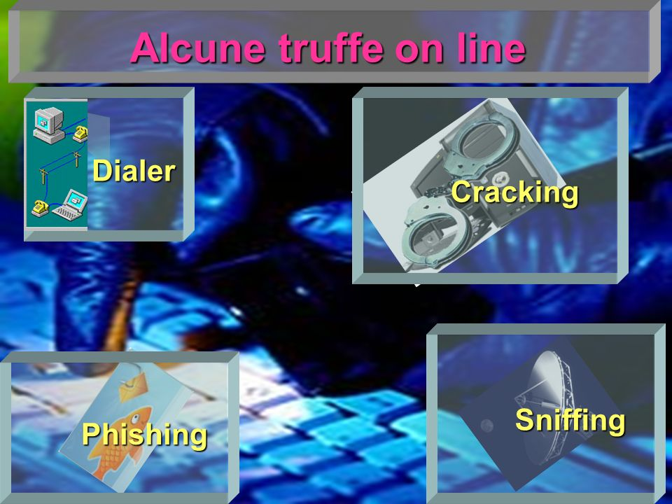 Dialer Alcune truffe on line Cracking Sniffing Phishing