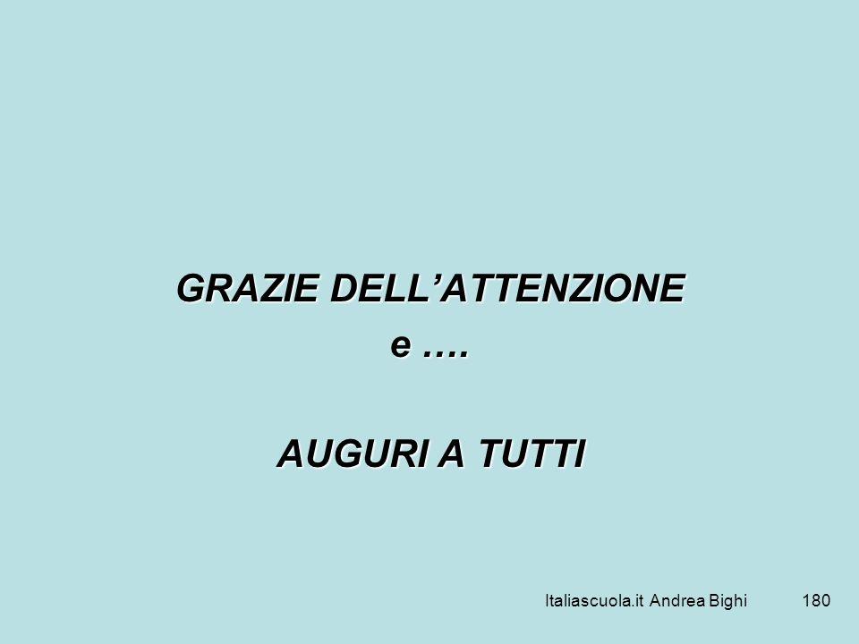Italiascuola.it Andrea Bighi180 GRAZIE DELLATTENZIONE e …. AUGURI A TUTTI