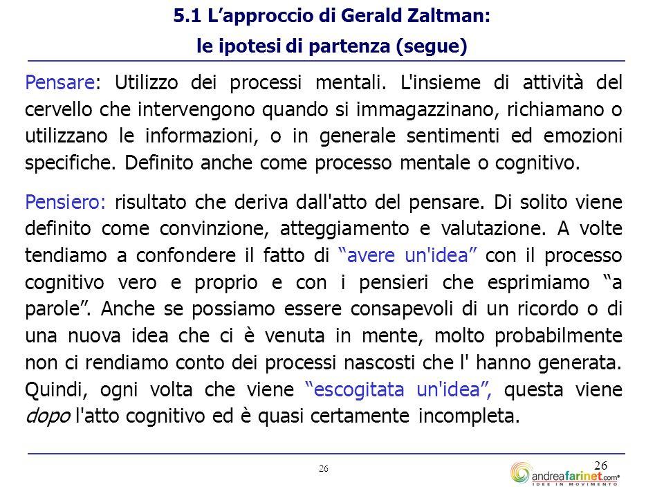 26 Pensare: Utilizzo dei processi mentali.