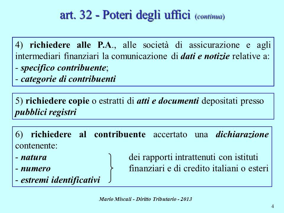 Mario Miscali - Diritto Tributario - 2013 5 art.