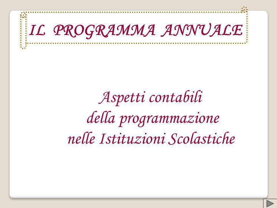 IL PROGRAMMA ANNUALE Aspetti contabili della programmazione nelle Istituzioni Scolastiche