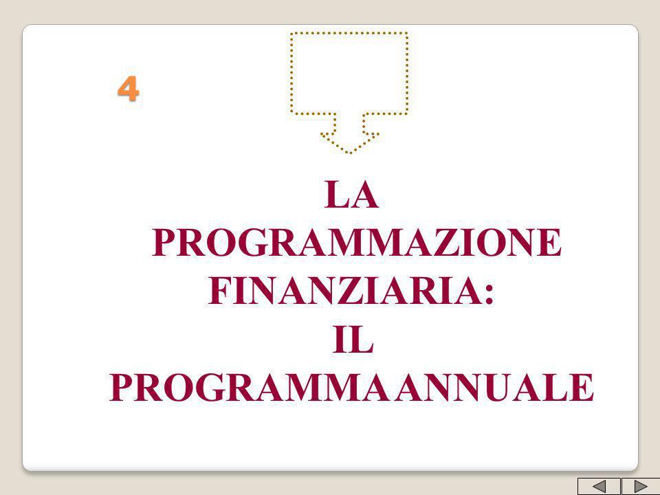 4 LA PROGRAMMAZIONE FINANZIARIA: IL PROGRAMMA ANNUALE