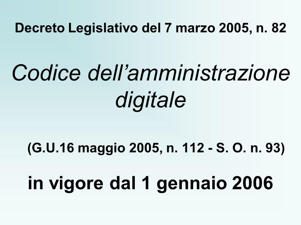 Decreto Legislativo del 7 marzo 2005, n.