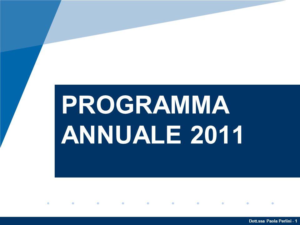 Dott.ssa Paola Perlini - 1 PROGRAMMA ANNUALE 2011