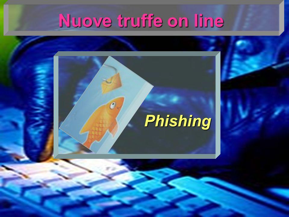 Phishing Si definisce phishing la tecnica utilizzata per ottenere l accesso ad informazioni personali e riservate con la finalità del furto di identità mediante l utilizzo di messaggi di posta elettronica fasulli, oppurtunamente creati per apparire autentici.
