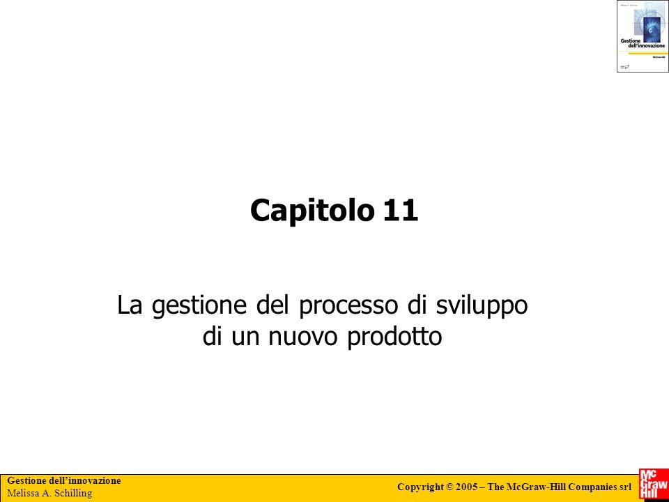 Gestione dellinnovazione Melissa A. Schilling Copyright © 2005 – The McGraw-Hill Companies srl Capitolo 11 La gestione del processo di sviluppo di un