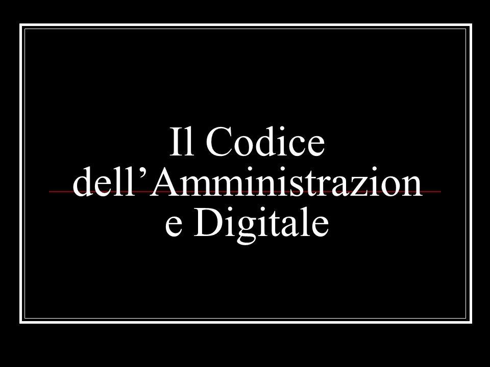 Il Codice dellAmministrazione Digitale Art.45. 1.
