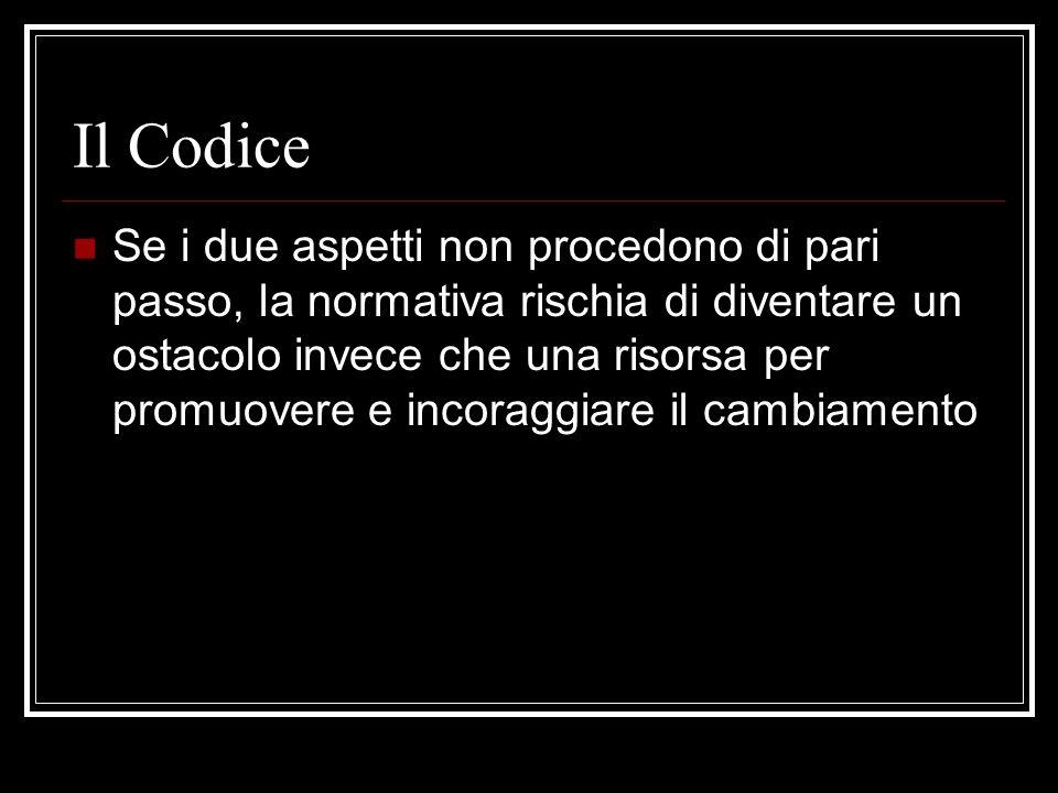Il Codice Il decreto legislativo n.
