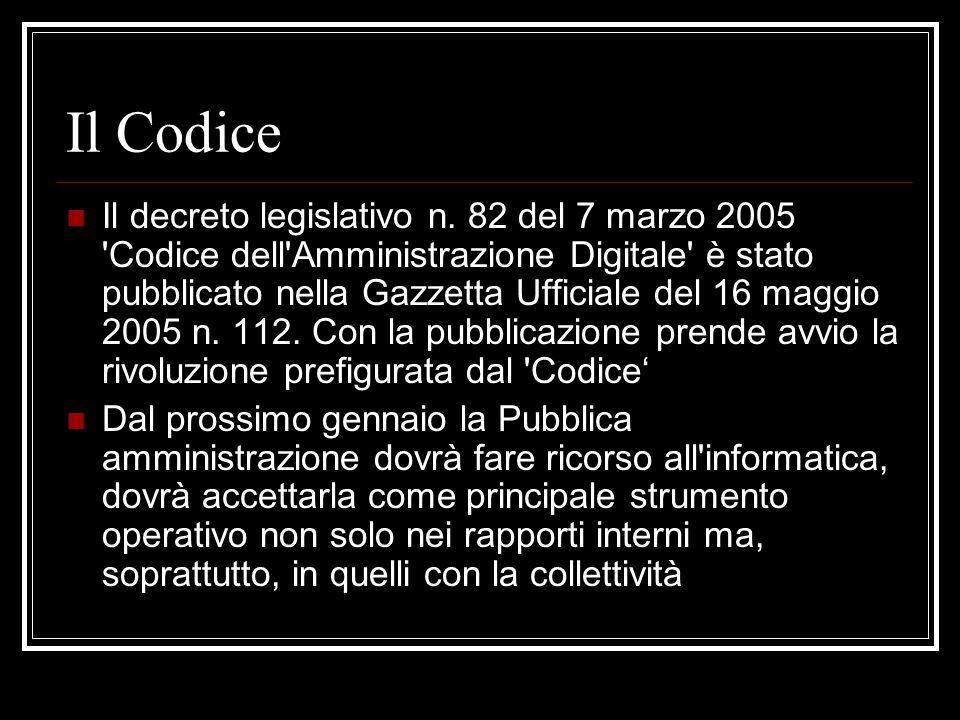 Il Codice dellAmministrazione Digitale Art.6. 1.