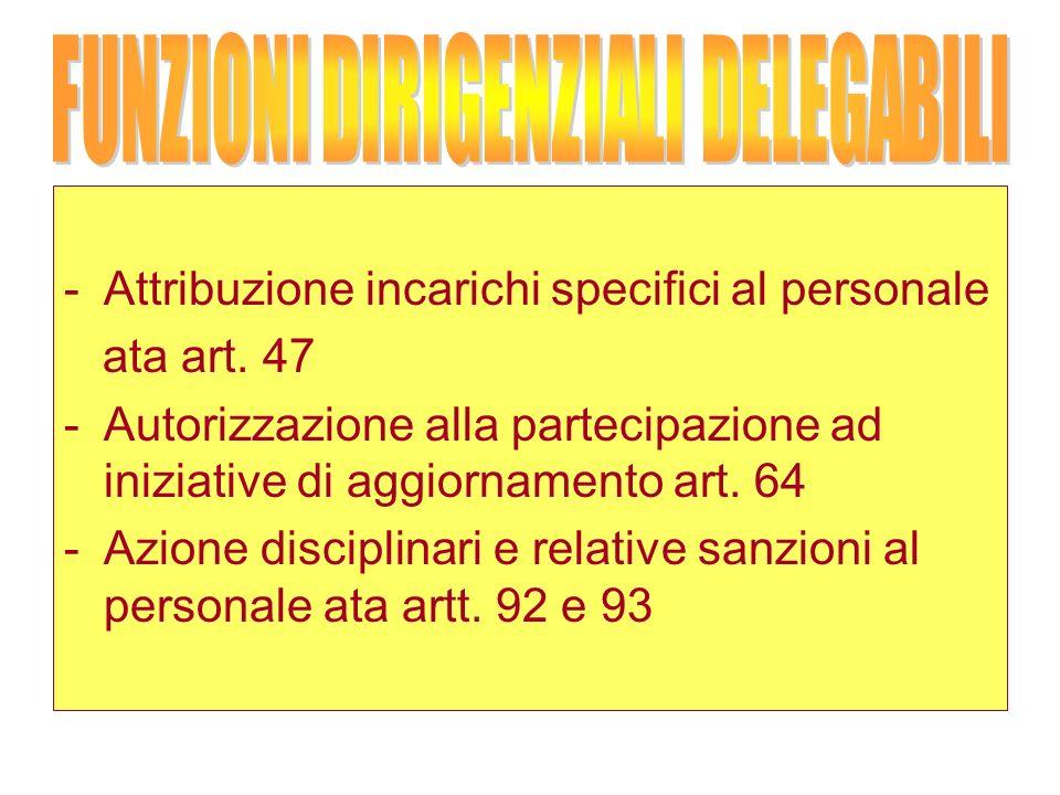 -Attribuzione incarichi specifici al personale ata art.