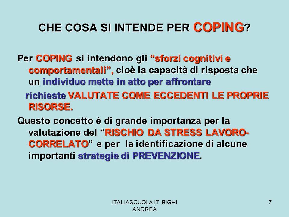 ITALIASCUOLA.IT BIGHI ANDREA 48 STRESS DA LAVORO UN RISCHIO INEVITABILE.