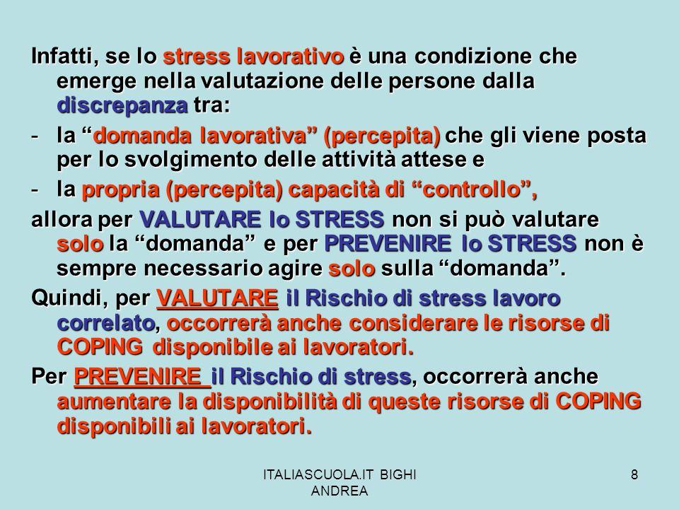 ITALIASCUOLA.IT BIGHI ANDREA 9 QUALI SONO I PRINCIPALI STILI DI COPING .