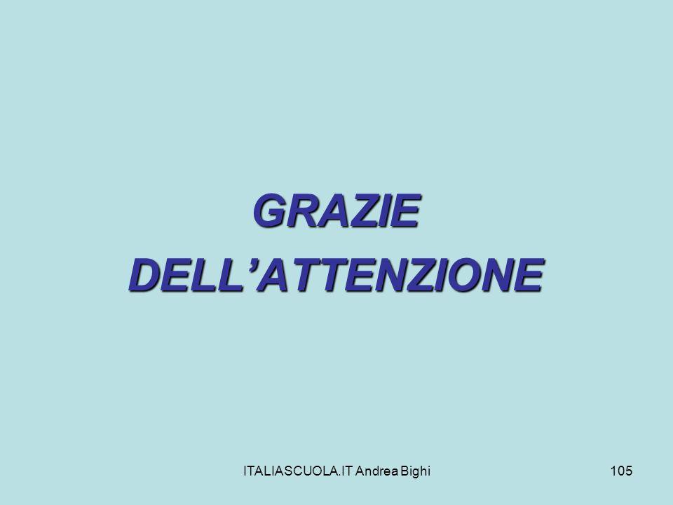 ITALIASCUOLA.IT Andrea Bighi105 GRAZIEDELLATTENZIONE