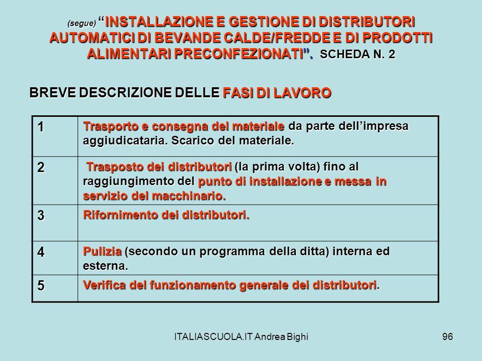 ITALIASCUOLA.IT Andrea Bighi96 (segue)INSTALLAZIONE E GESTIONE DI DISTRIBUTORI AUTOMATICI DI BEVANDE CALDE/FREDDE E DI PRODOTTI ALIMENTARI PRECONFEZIO