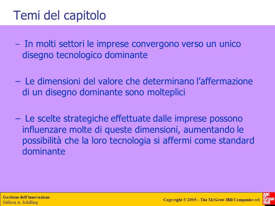 Gestione dellinnovazione Melissa A. Schilling Copyright © 2005 – The McGraw-Hill Companies srl Temi del capitolo – In molti settori le imprese converg