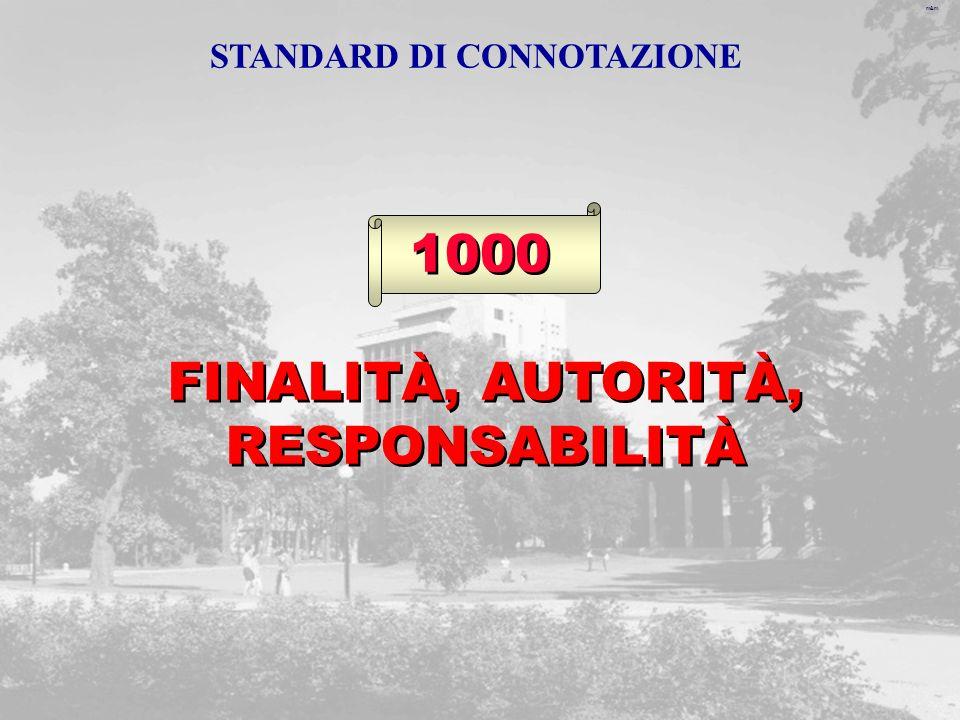 m&m FINALITÀ, AUTORITÀ, RESPONSABILITÀ 1000 STANDARD DI CONNOTAZIONE