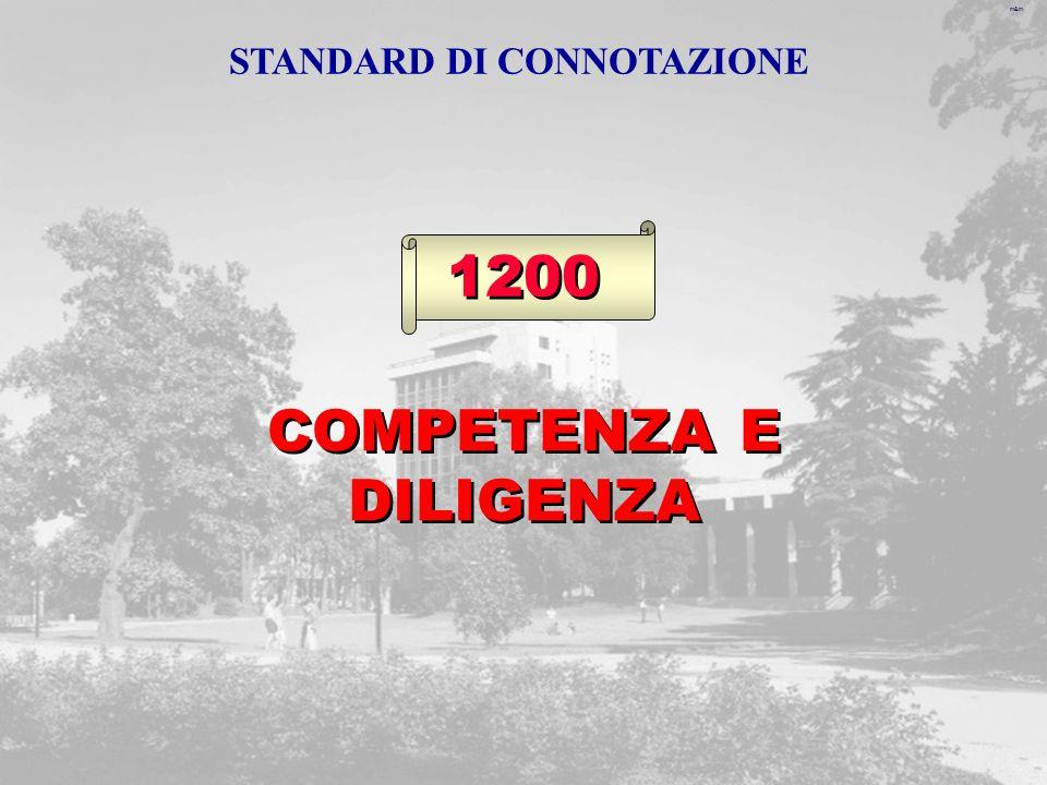 m&m 1200 COMPETENZA E DILIGENZA STANDARD DI CONNOTAZIONE