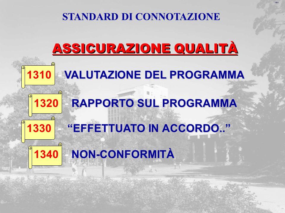 m&m VALUTAZIONE DEL PROGRAMMA 1310 - VALUTAZIONE DEL PROGRAMMA RAPPORTO SUL PROGRAMMA 1320 - RAPPORTO SUL PROGRAMMA EFFETTUATO IN ACCORDO..