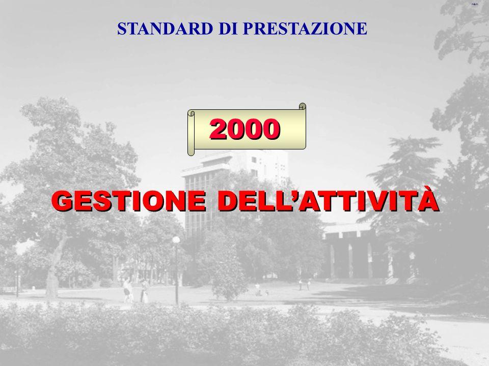 m&m 2000 GESTIONE DELLATTIVITÀ STANDARD DI PRESTAZIONE