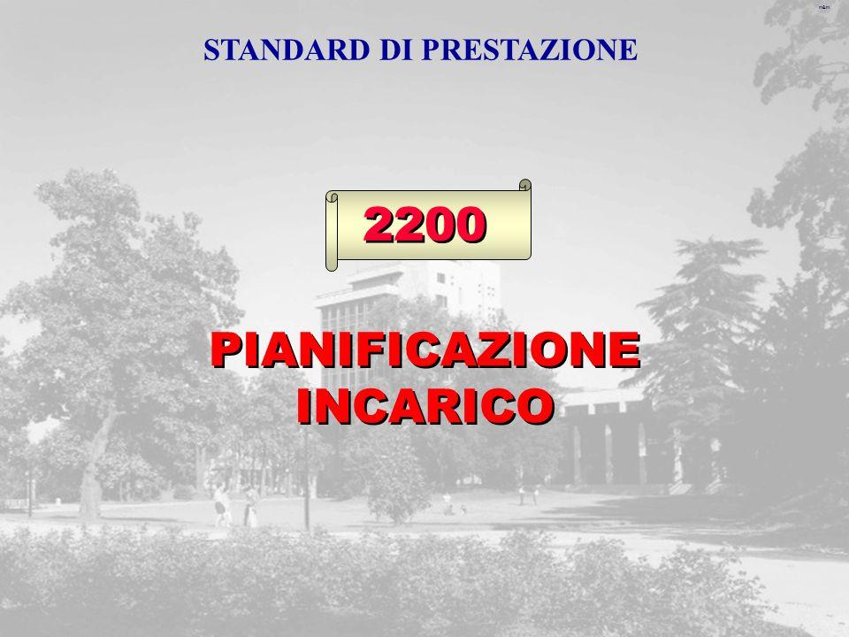m&m 2200 PIANIFICAZIONE INCARICO STANDARD DI PRESTAZIONE