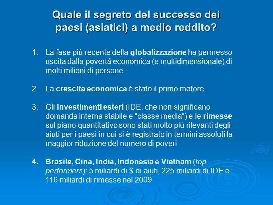 Quale il segreto del successo dei paesi (asiatici) a medio reddito.