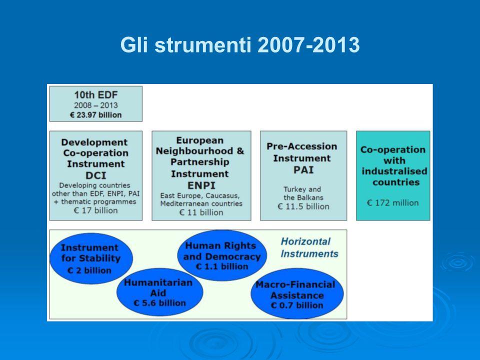 Gli strumenti 2007-2013