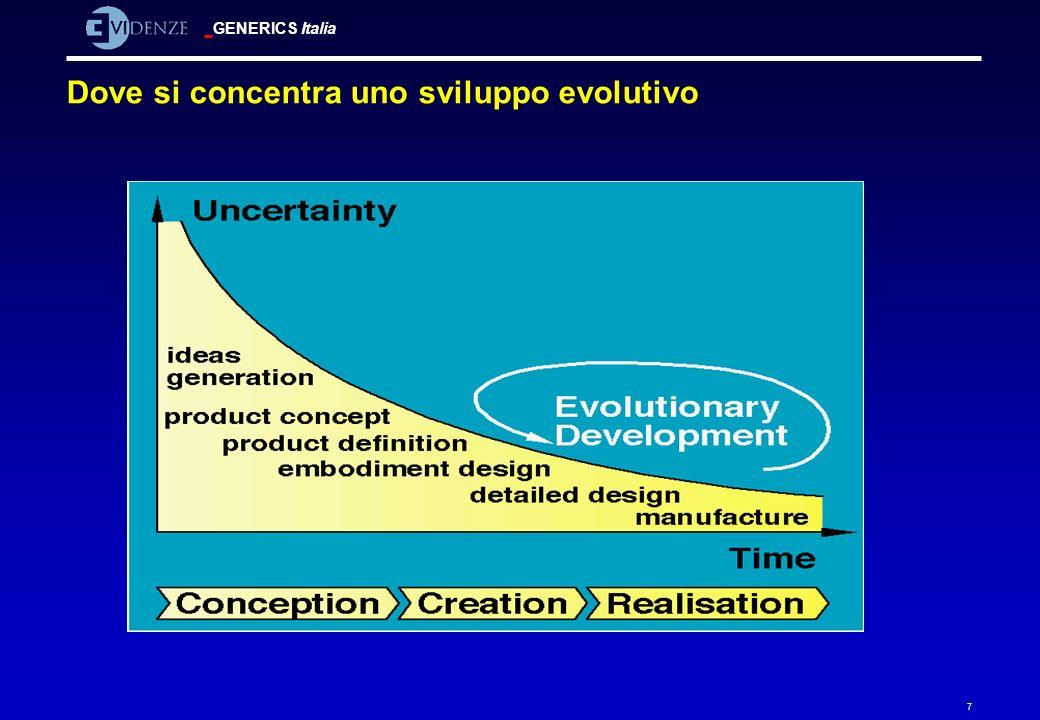 GENERICS Italia 7 Dove si concentra uno sviluppo evolutivo