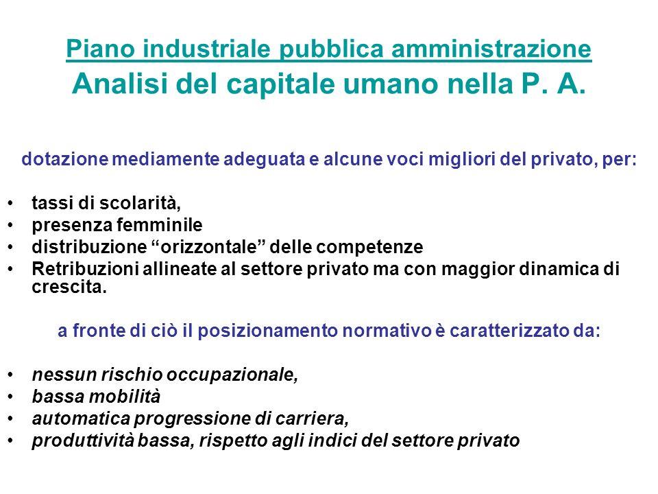 Piano industriale pubblica amministrazione Piano industriale pubblica amministrazione Analisi del capitale umano nella P.