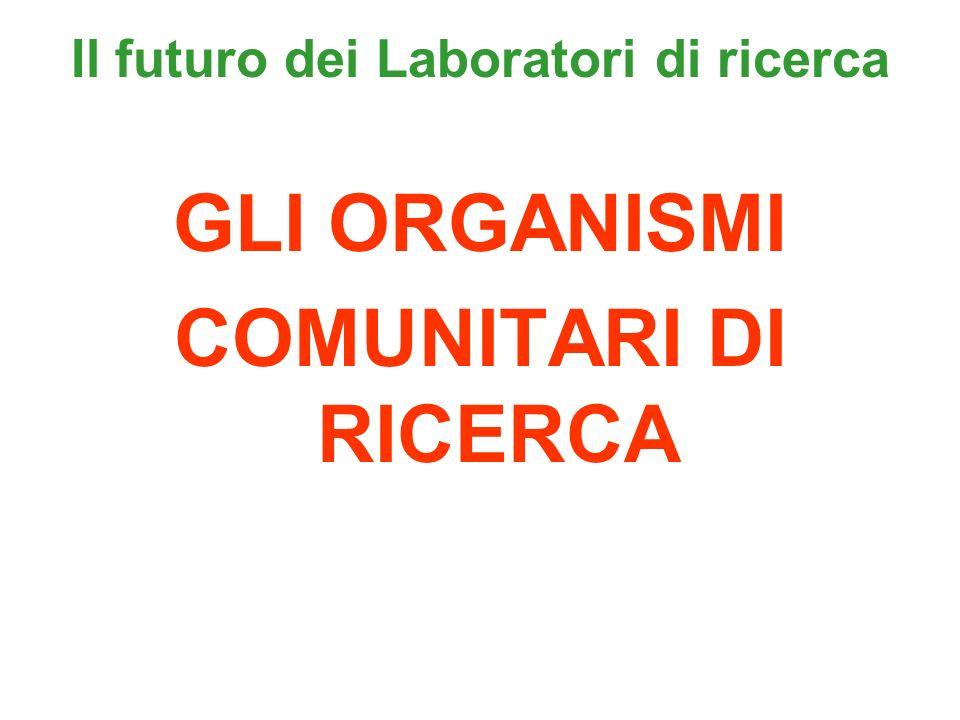 Il futuro dei Laboratori di ricerca GLI ORGANISMI COMUNITARI DI RICERCA