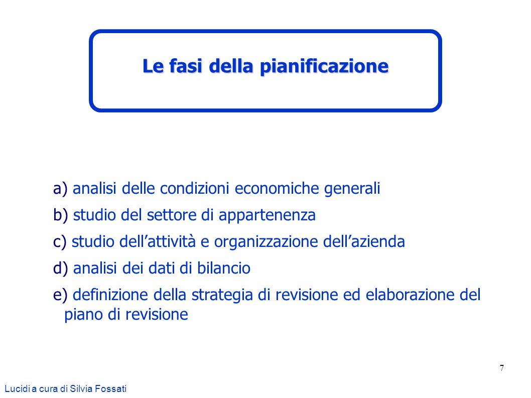 7 a) analisi delle condizioni economiche generali b) studio del settore di appartenenza c) studio dellattività e organizzazione dellazienda d) analisi