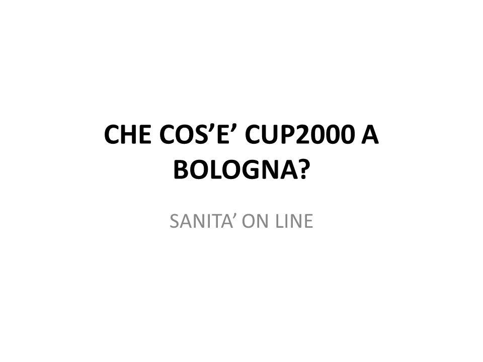 CHE COSE CUP2000 A BOLOGNA SANITA ON LINE