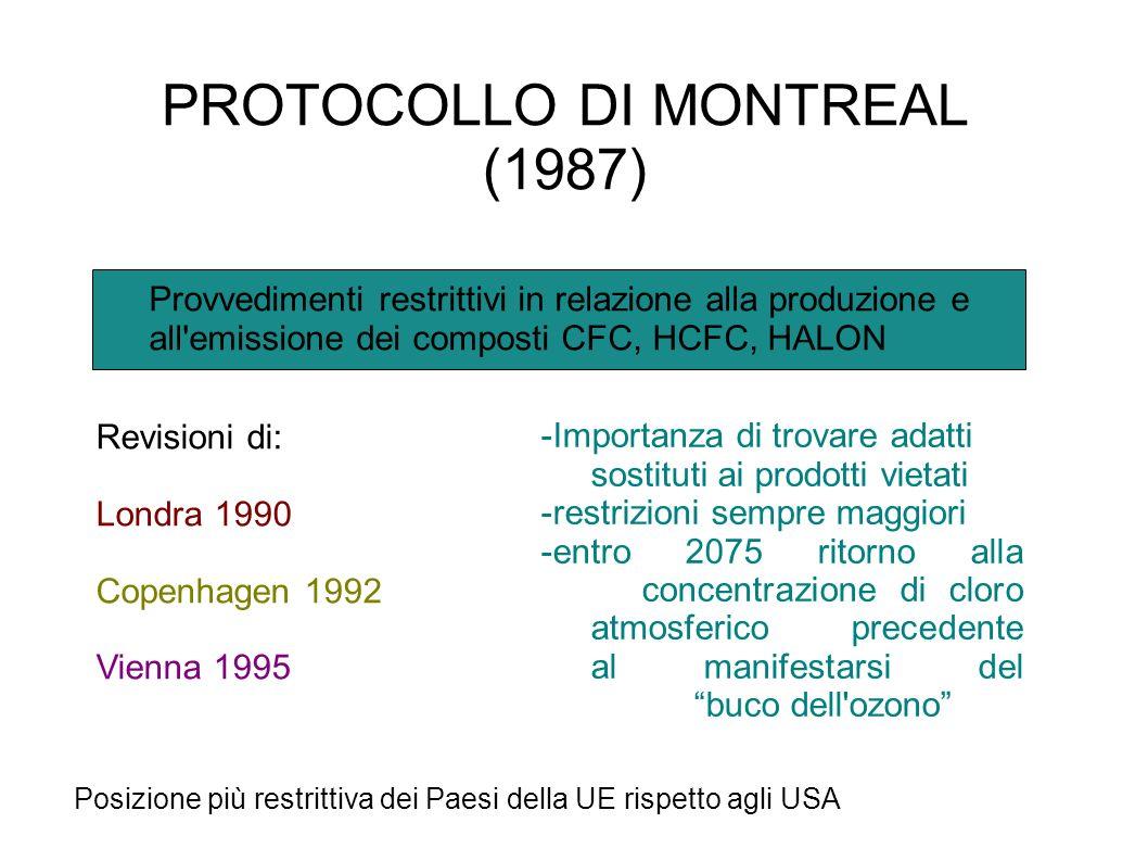 AGENDA XXI CONFERENZA DI RIO (1992) Guida ai governi dei vari Paesi nelle decisioni in materia di ambiente -Principio di precauzione -Principio del ch