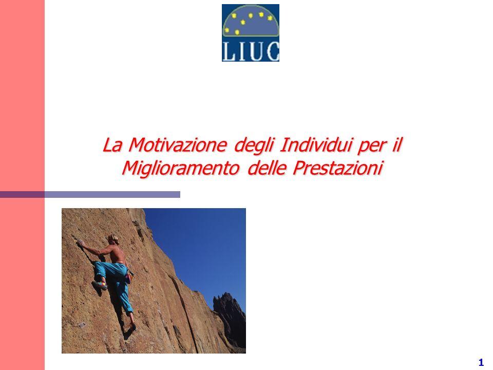 1 La Motivazione degli Individui per il Miglioramento delle Prestazioni