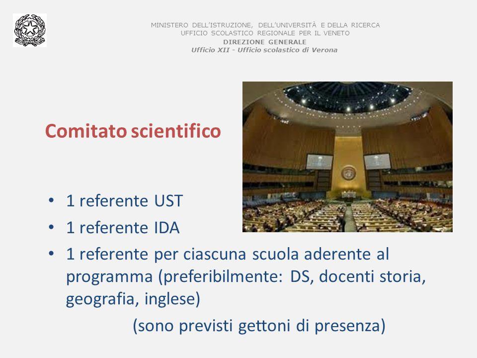 MINISTERO DELLISTRUZIONE, DELLUNIVERSITÀ E DELLA RICERCA UFFICIO SCOLASTICO REGIONALE PER IL VENETO DIREZIONE GENERALE Ufficio XII - Ufficio scolastico di Verona Partecipanti 20/25 studenti per Istituto Secondario II grado, di classe IV e V Per il 2011/2012 sono ammesse 4/5 scuole Eventuali selezioni a cura delle scuole sulla base dei criteri individuati dal comitato scientifico