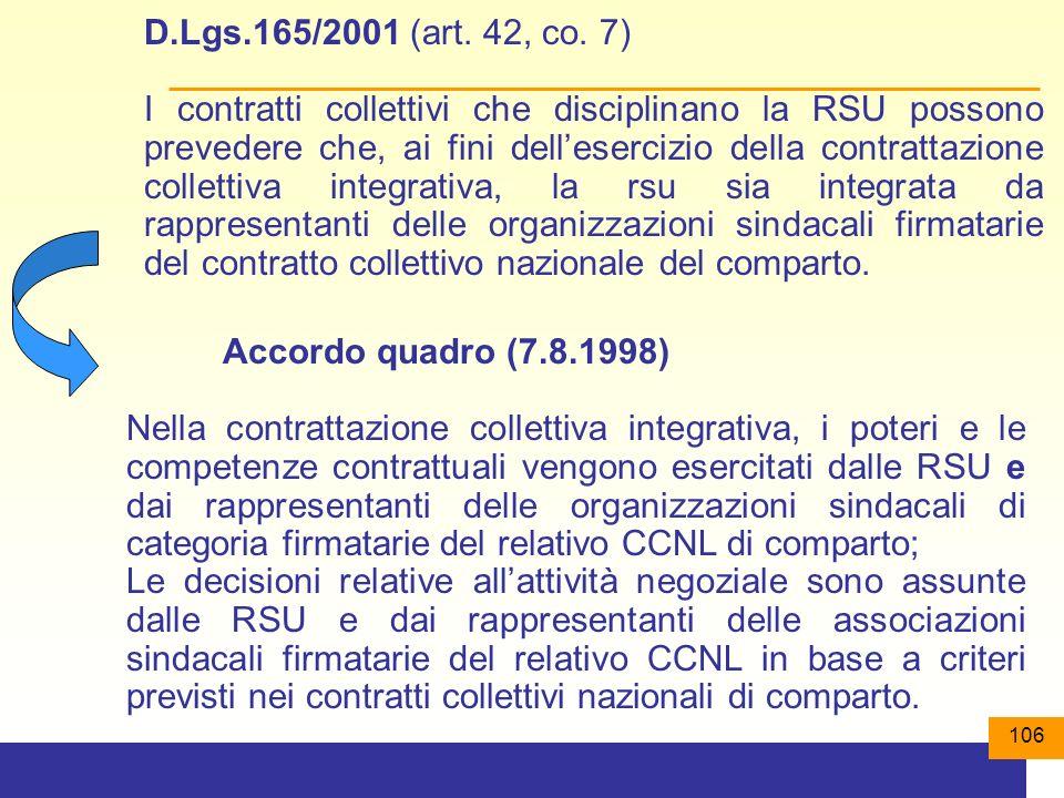 106 D.Lgs.165/2001 (art.42, co.