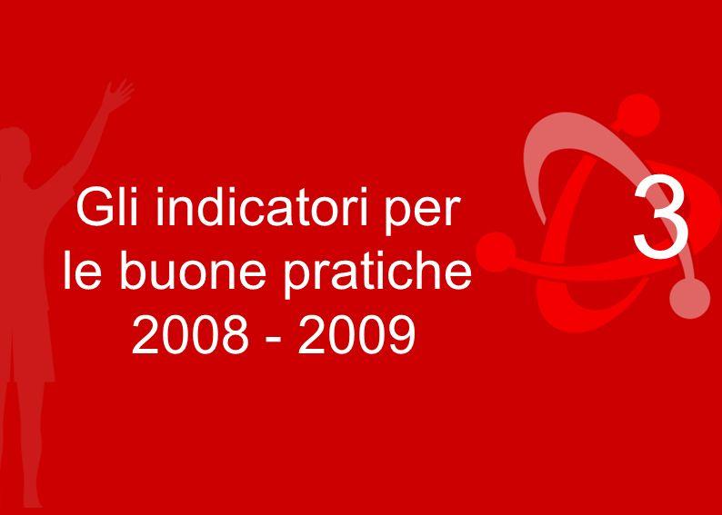 Regioni Emilia-Romagna, Campania, Liguria, Marche, Toscana 3 Gli indicatori per le buone pratiche 2008 - 2009