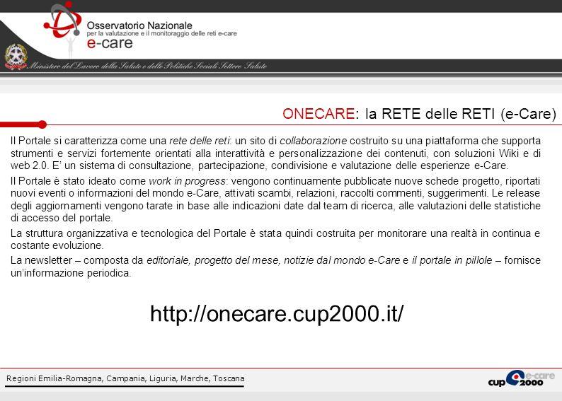 Regioni Emilia-Romagna, Campania, Liguria, Marche, Toscana Il Portale si caratterizza come una rete delle reti: un sito di collaborazione costruito su