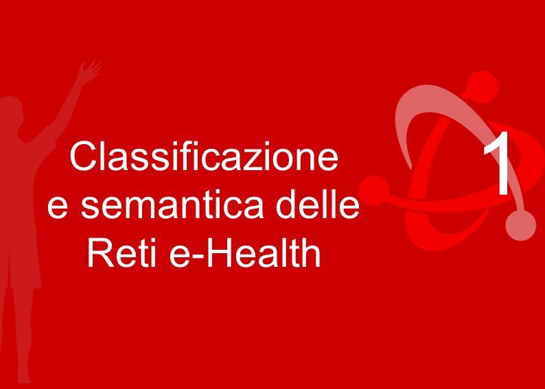 Regioni Emilia-Romagna, Campania, Liguria, Marche, Toscana 1 Classificazione e semantica delle Reti e-Health