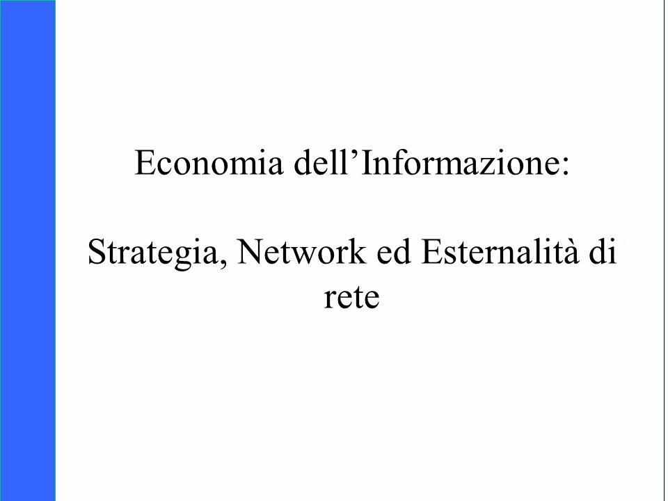 Copyright SDA Bocconi 2005 Competing Technologies, Network Externalities …n 22 Network ed esternalità di rete Nei sistemi organizzati a network osserviamo le esternalità di rete.