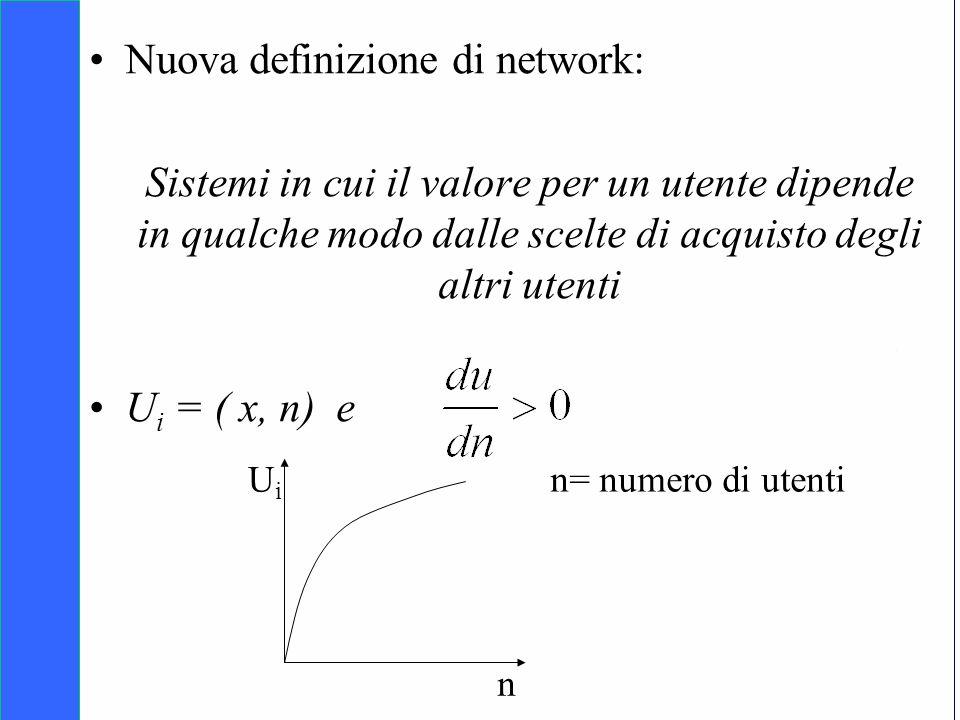 Copyright SDA Bocconi 2005 Competing Technologies, Network Externalities …n 27 Nuova definizione di network: Sistemi in cui il valore per un utente di