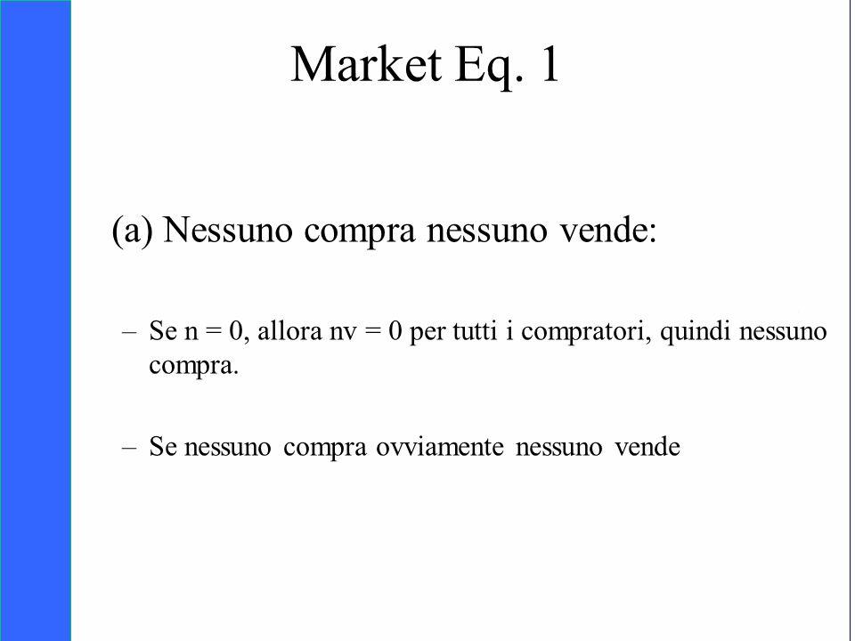 Copyright SDA Bocconi 2005 Competing Technologies, Network Externalities …n 37 (a) Nessuno compra nessuno vende: –Se n = 0, allora nv = 0 per tutti i
