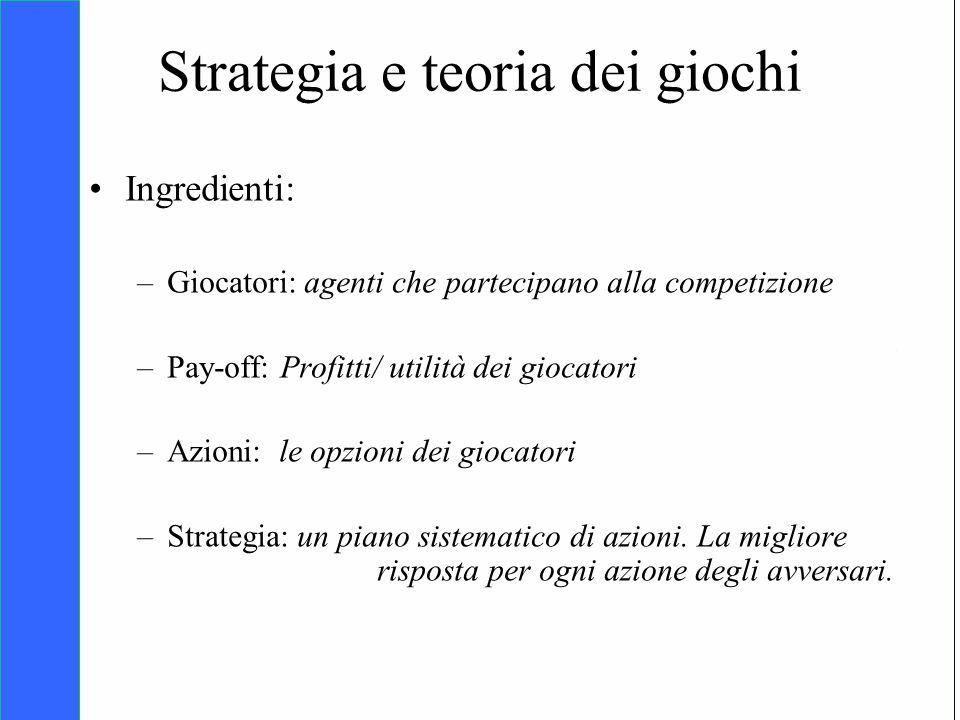 Copyright SDA Bocconi 2005 Competing Technologies, Network Externalities …n 5 Strategia e teoria dei giochi Ingredienti: –Giocatori: agenti che partec
