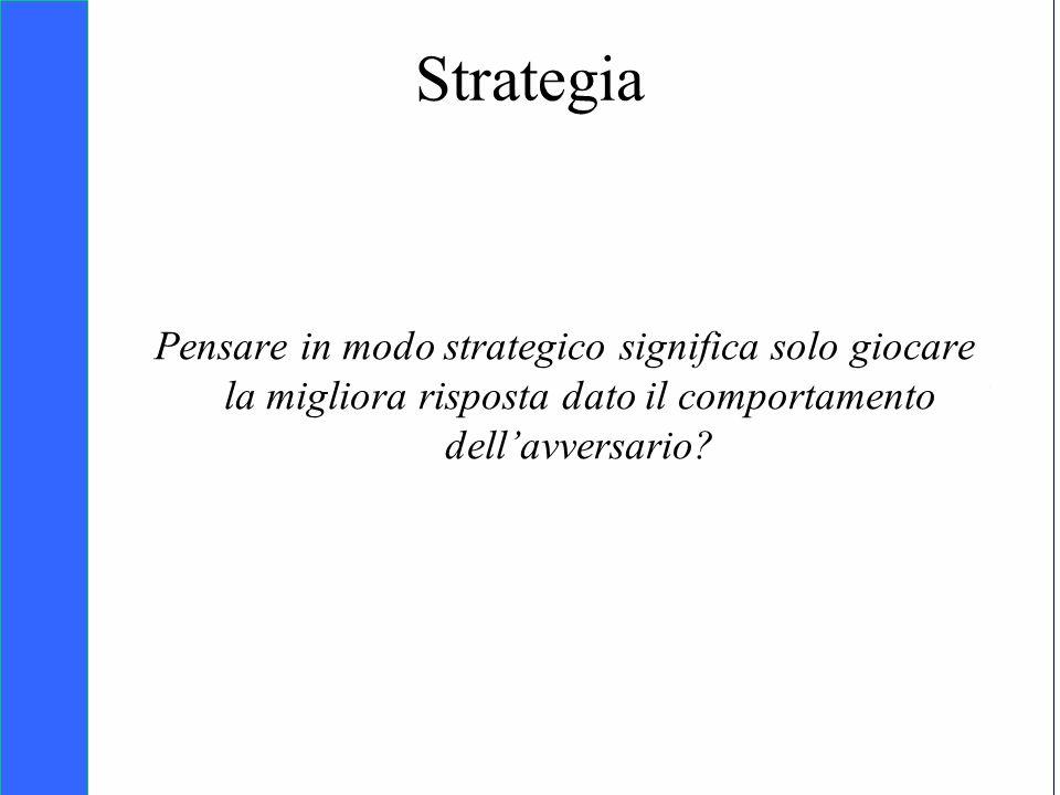 Copyright SDA Bocconi 2005 Competing Technologies, Network Externalities …n 8 Strategia Pensare in modo strategico significa solo giocare la migliora