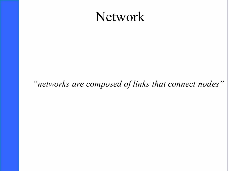 Copyright SDA Bocconi 2005 Competing Technologies, Network Externalities …n 9 Network networks are composed of links that connect nodes