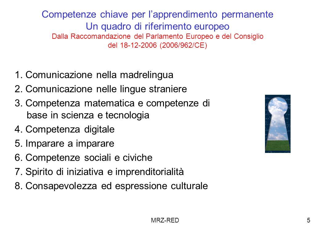 MRZ-RED6 Competenze chiave di cittadinanzaDECRETO 22-08-2007, n.