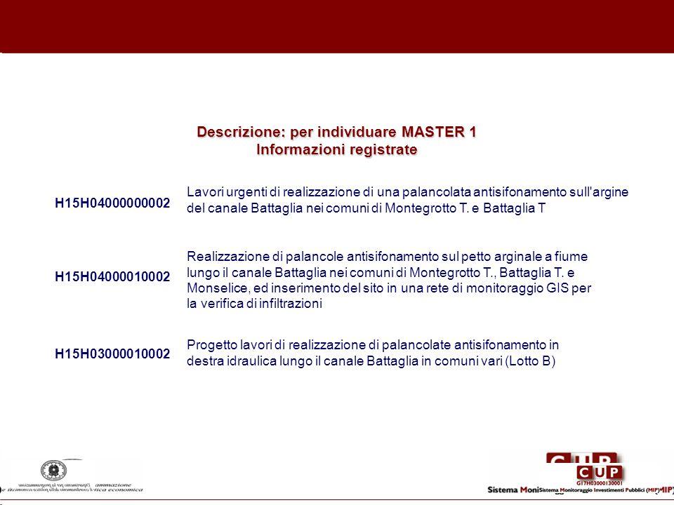 H15H04000000002 Lavori urgenti di realizzazione di una palancolata antisifonamento sull'argine del canale Battaglia nei comuni di Montegrotto T. e Bat