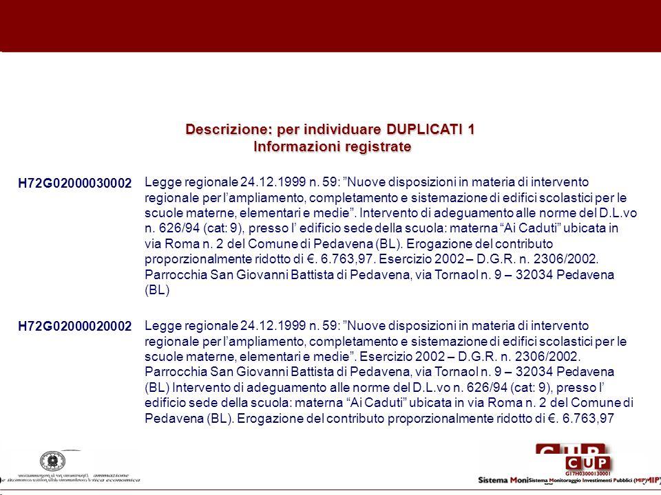 H72G02000030002 Legge regionale 24.12.1999 n. 59: Nuove disposizioni in materia di intervento regionale per lampliamento, completamento e sistemazione