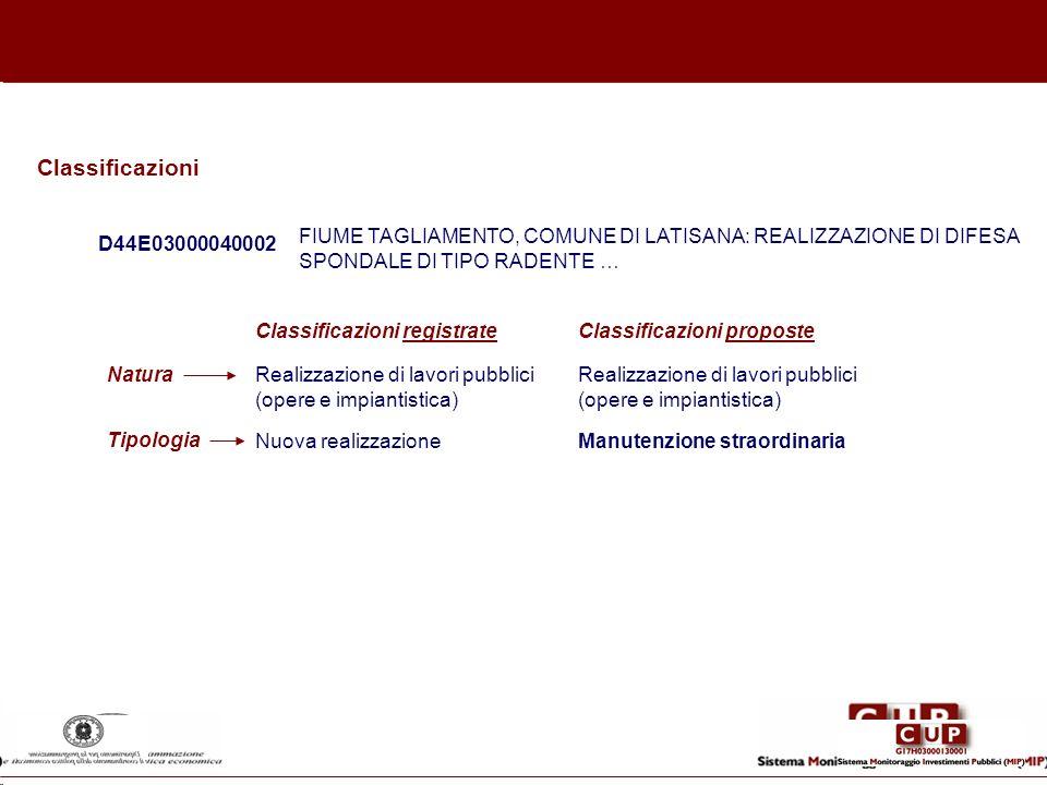 D44E03000040002 FIUME TAGLIAMENTO, COMUNE DI LATISANA: REALIZZAZIONE DI DIFESA SPONDALE DI TIPO RADENTE … Realizzazione di lavori pubblici (opere e im